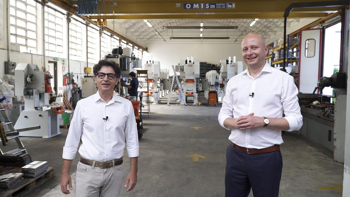 Przedstawiciele MIOS i VENTOR podczas wizyty-w-zakladzie-produkcyjnym MIOS - od lewej-CEO-MIOS - Paolo Vanni, VENTOR Sales-Director - Przemyslaw Kamiński